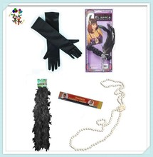Gloves Boa Beads Headband Adult Sexy Flapper Party Costume Accessories HPC-0950