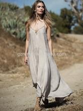 Original para mujer del diseño sin mangas del estilo de Bohemia Beach vestido largo Maxi mujeres