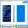 Original Mobile Phone Made In China ZOPO Mobile Phone ZOPO ZP780 MTK6582 Quad Core Cell Phones Android 4.2 5.0Inch