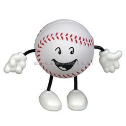 Hot Sale Popular Novelty Unique Baseball Figure Stress Ball