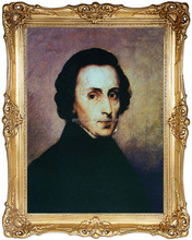 Portrait of Chopin, Painting, Oil Handmade Painting