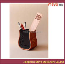 Eco-friendly Wooden Carved Pen Holder/Office Desktop Pen Stand-MEYOPH007