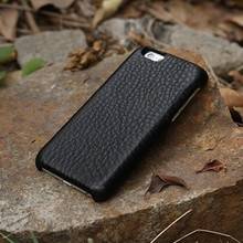 Soft cover genuine leather case for i phone6