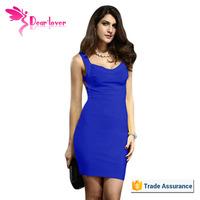 Sexy Girl Blue Bandage Dress pakaian pembalut