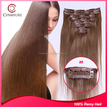 Beautiful clip in hair extension human hair Extension Make you Younger