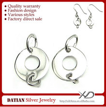 XD P316 Circle 925 Sterling Silver Charm Connector for Jewelry