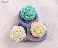 molde silicone biscuit flower,fondant cake decorating tools,decorative artificial flower making