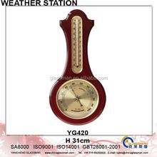 Newest Wooden Weather Station Barometer Decor YG420