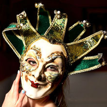 Fashion 2015 New Italy Venetian mask venetian masquerade mask, 7 corners without collar Venetian mask