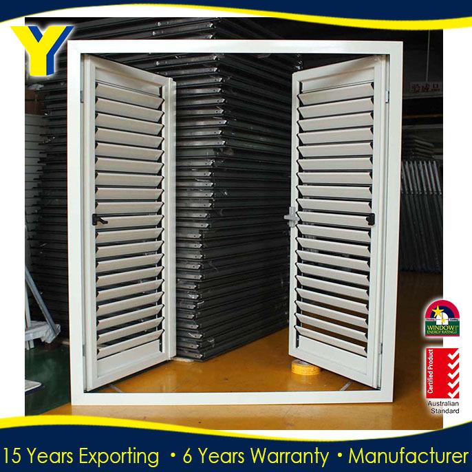 Puerta de persiana de aluminio obturadores de la for Persiana de aluminio