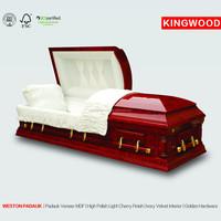 WESTON Gloss lust ash casket paulownia wood box