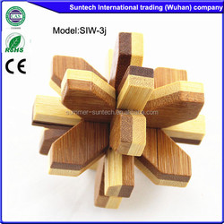 3d wooden toys wooden brain teaser, wooden brain teaser puzzle