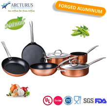 9 piece aluminum cookware set with SS handle and lid
