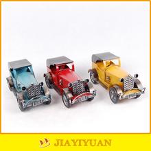 Three Colors Metal Crafts Antique Metal Car Model/Vintage Metal Car Model for decoration