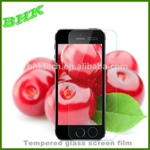 ultra thin high definition tempered glass screen film for iphone 5 5s 5c, tempered glass screen protector