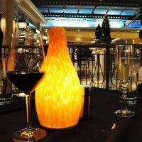 battery lamp chimney glass for restaurant decoration