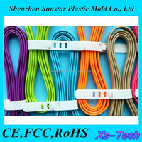 Noodle shape driver download usb data cable for iphone 5