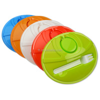 Oval lunch to go container