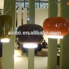 Enfeites de natal decoração de interiores réplica chouchin vidro artesanal conduziu a iluminação pendant