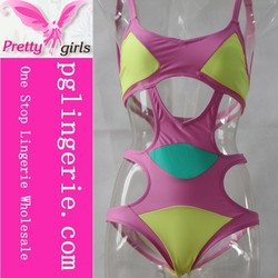 one piece bathing suits ,one piece transparent bathing suit ,2015 sexy one piece swimwear M15204a