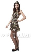 Camouflage field girl