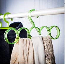 Popular Round Plastic Scarf Hanger with Hooks /plastic garment clothes coat hanger wholesale