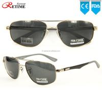 2015 New Model Popular Design Custom LOGO Metal Polarized Sunglasses For Man (SM-859)