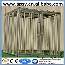 Wholesale galvanized portable pet playpens animal train cages 6'x6',5'x9',1 run, 3 runs European dog kennels with solid roofs