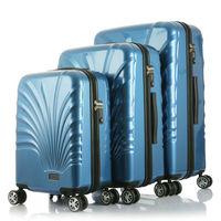 20 24 28 inch fashion 100% PC sky travel luggage bag with trolley