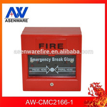 High Quality Conventional 2 Wire Fire Alarm Break Glass Style Manual Call Point