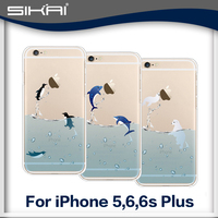 Phone Cases for iPhone 5S 5 case Dolphin Ocean Animal Soft TPU Cover Protedtor For iPhone