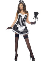 hot open women sexy satin women corset sexy french maid costume