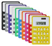 Hairong calendar silicon solar calculator promotion gift pocket calculator