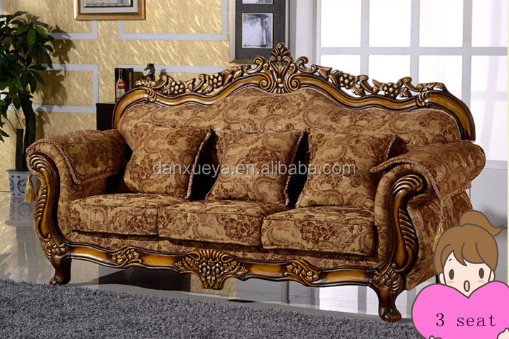 New Design Ethnic French Furniture Velvet Fabric Sectional ...