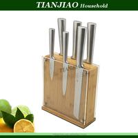 "Kitchen knives 6pcs knives set S/6 knives with block set 8""chef knife,Bread Knife,paring knife knife set with holder knives"