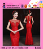 Wholesale Factory Direct Hot Long Red Party Dress Elegant Sexy Korean Style Real Sample New Evening Dress