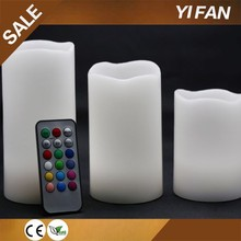 White Flickering Flameless Real Wax Candles Vanilla Scented LED Mood Light