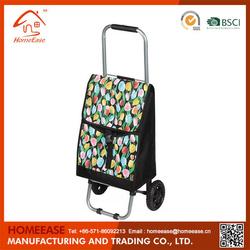 600D Polyester Folding Shopping Trolley/Mini Shopping Cart/Foldable Shopping Trolley Bag