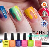 #30917X Hot Sale Nail Art CANNI 7.3ml Soak off UV LED Gel Varnish 207 Colors Nail Gel Polish