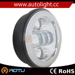 """harley 5.75"""" round headlight led,50w 5.75inch high low beam headlight for harley motorcycle"""
