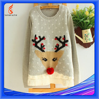 Winter OEM Service Computer Knitted Pullover Christmas Sweater With Led Lights, Led Light Sweater For Christmas
