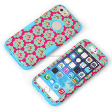 Fashion Rose Flowers Print Skin Neo Hybrid Cover Phone Case for iPhone 6 4.7