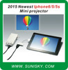 SMPI6 2015 newest mini iphone 6 / 5 / 5s pocket projector