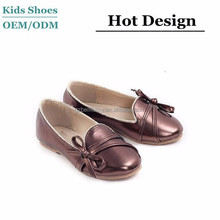 J-D0066 Top quality hot sale simple style flat autumn dress shoes genuine leather princess dresses for kids