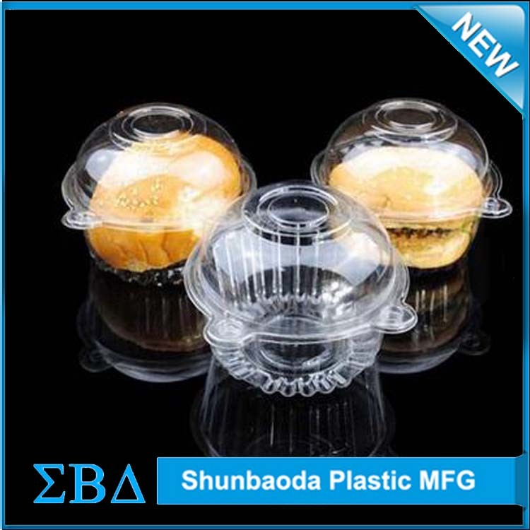 custom cake box double blister, plastic clamshell packaging for Egg tarts.jpg