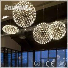 Sunlight Modern Metal casting Fireworks style Industrial pendant Lamp for dinning room