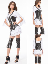 Instyles Ladies Pirate Deluxe Costume Womens Halloween Party Dress + Hat 8476