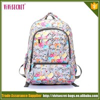 cute stylish college cartoon dog pattern pc backpack