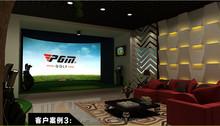 PGM indoor mini golf game and golf simulator