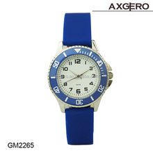 Custom silicone wrist watch, colorful rubber band watch, watches for lady